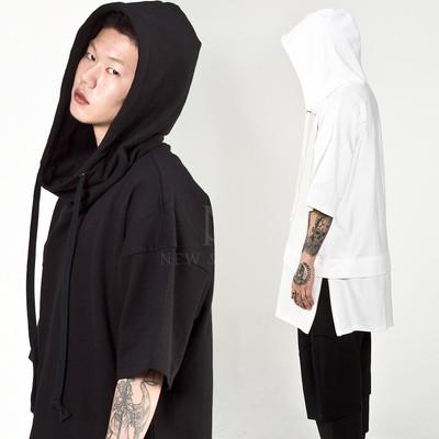 Side zippered layered hoodie