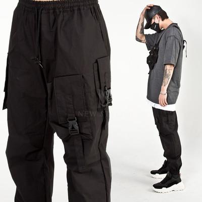 Multiple ammo pocket techwear banded pants