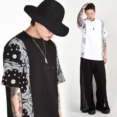 Paisley contrast t-shirts