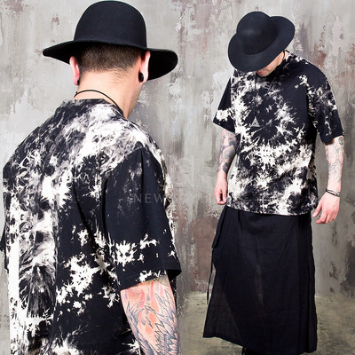 Asymmetric turtleneck cover layered t-shirts