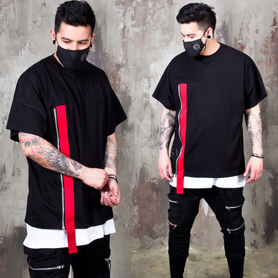 Red webbing strap t-shirts