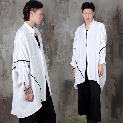Loose fit linen batwing shirts