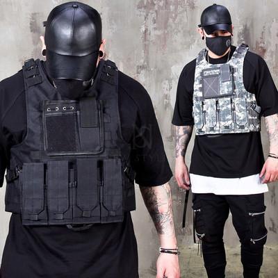 Techwear bullet-proof slim vest