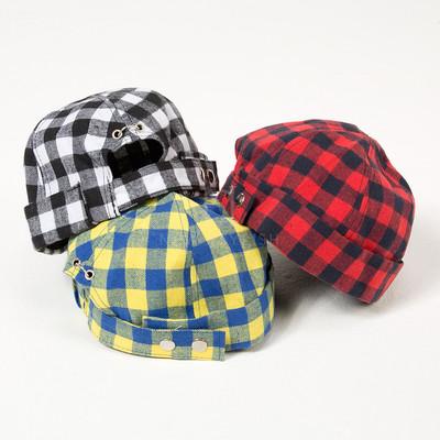 Checkered docker cap