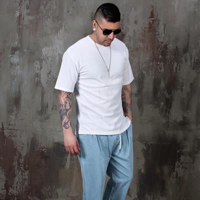 Side opening simple basic t-shirts
