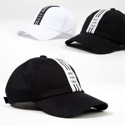 Contrast center stripe ball cap