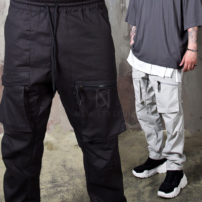 Square pocket banded pants