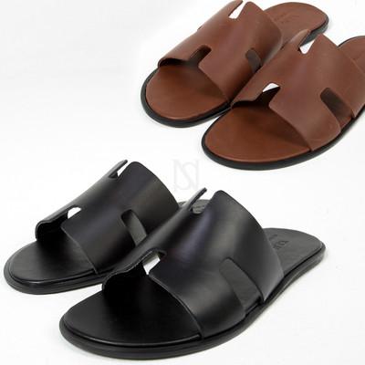 Classy leather strap slipper