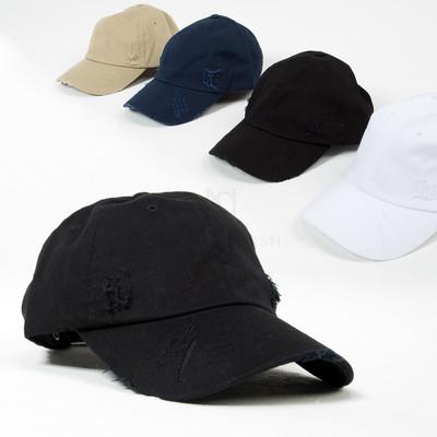 Distressed ball cap