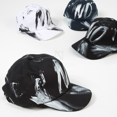 Painted ball cap