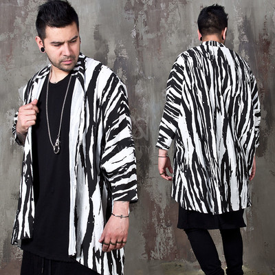Zebra pattern loose fit shirts