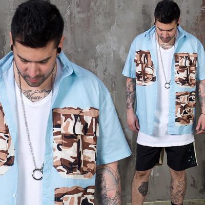 Camouflage cargo pocket shirts
