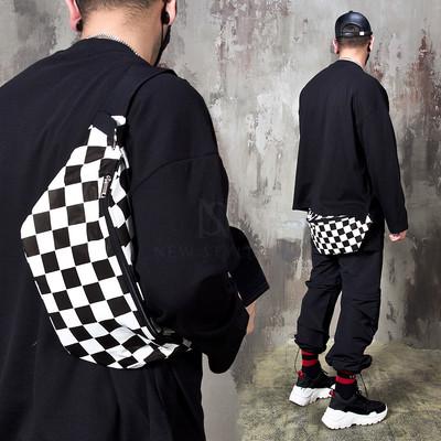 Chess checkered bum bag
