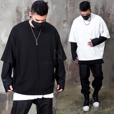 Arm warmer layered boxy t-shirts