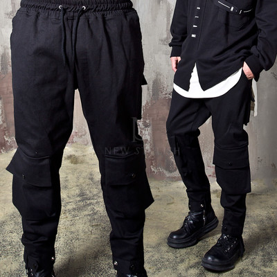 Double front snap pocket banded pants