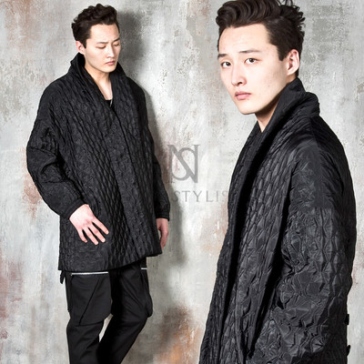 Hanbok vibe diamond quilted jacket