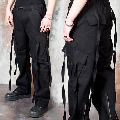 Wide cargo bondage pants