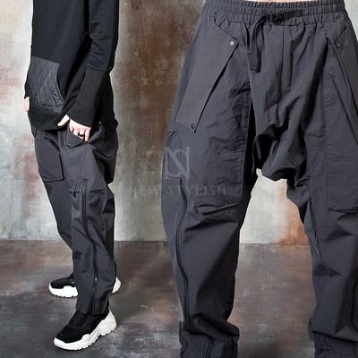 Futuristic techwear baggy pants