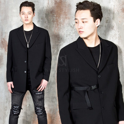 One side buckle strap single jacket