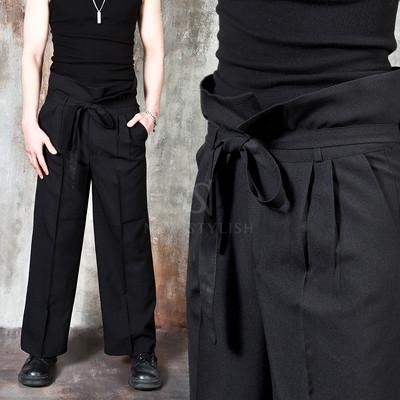 Harajuku vibe high waist wide pants