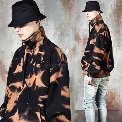 Ink patterned high neck shirts