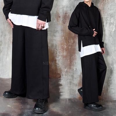 Avant-garde banded wide pants