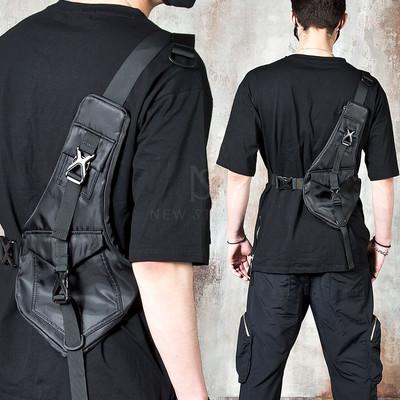 Techwear vest type sling bag