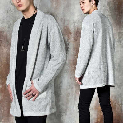 Linen knit open cardigan