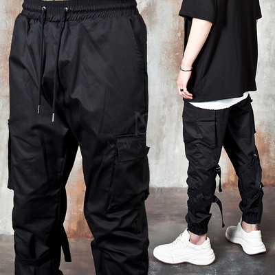 Double D-ring strap cargo jogger pants
