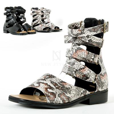 Coiled strap modern gladiator sandals