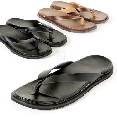 Saw outsole leather flip flop