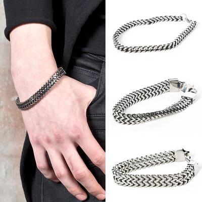 Zigzag chain bracelet