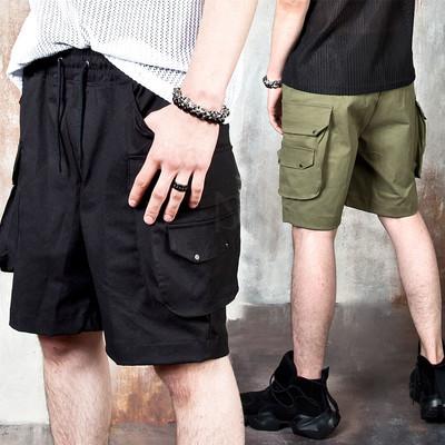 Unique pocket cotton shorts
