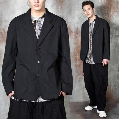 Oversized 3 button jacket
