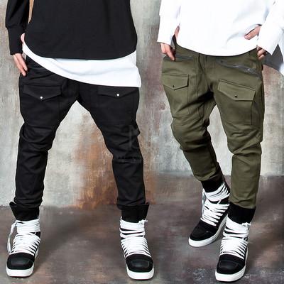 Front snap pocket baggy pants