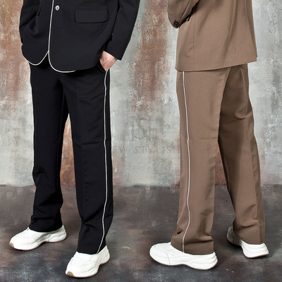 Contrast lined pants