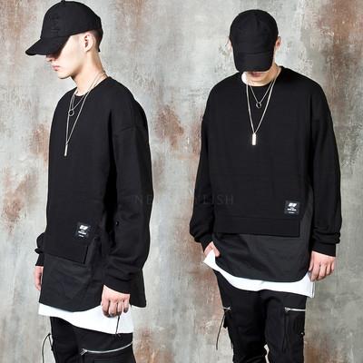 Double layered side opening sweatshirts