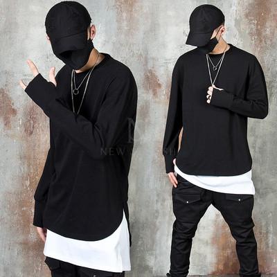 Unbalanced arm-warmer long sleeve t-shirts