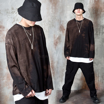 Grunge stain long sleeve t-shirts