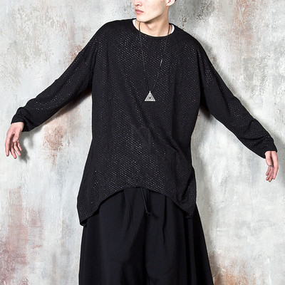 Oversized wide swallow long sleeve t-shirts