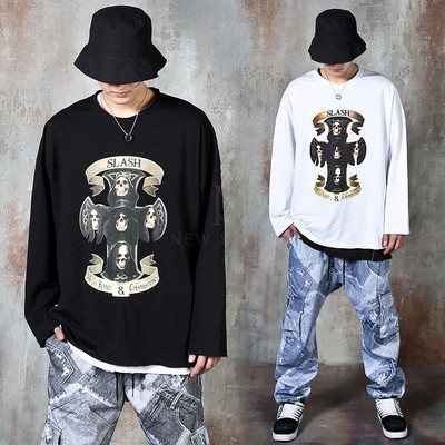 Skull logo long sleeve t-shirts