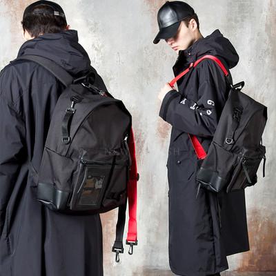 Contrast strap cross backpack