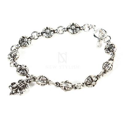 Antique charm chain bracelet