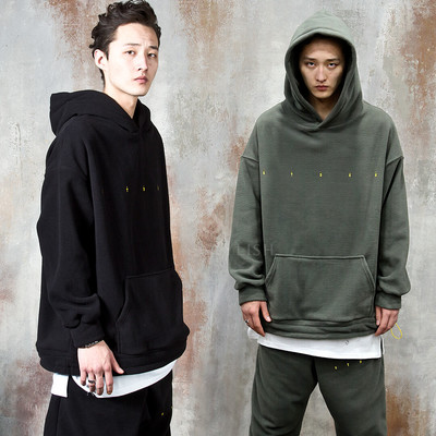 String fleece hoodie