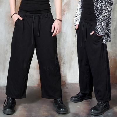 Black wide banded pants