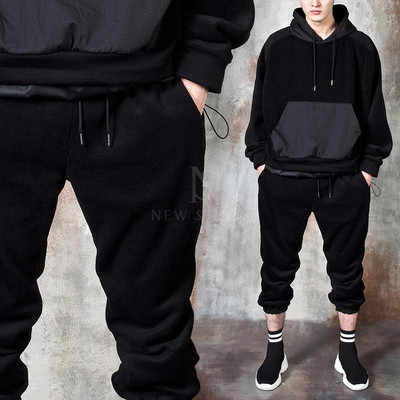 Fleece baggy jogger pants