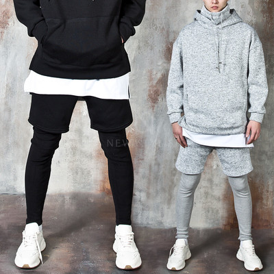 Leggings layered banded pants