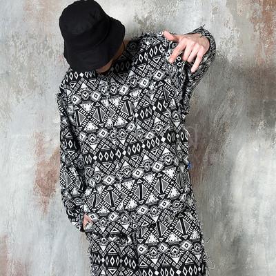 Ethnic patterned long sleeve t-shirts