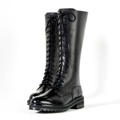 Lace-up commando sole long boots