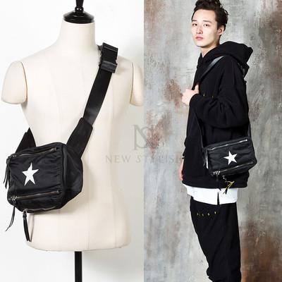 Star accent triple zipper cross bag